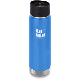 Klean Kanteen Wide Vacuum Insulated Drinkfles Café Cap 2.0 592ml blauw